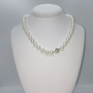 "Jewelry - CLASSY 18"" WHITE RAINBOW SHELL PEARL NECKLACE"